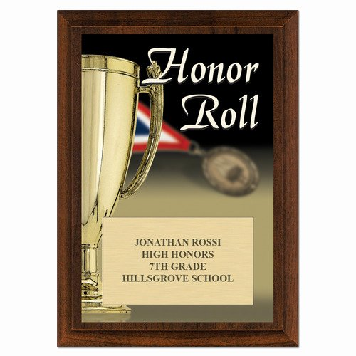All A Honor Roll Certificate Beautiful Honor Roll Cherry School Award Plaque