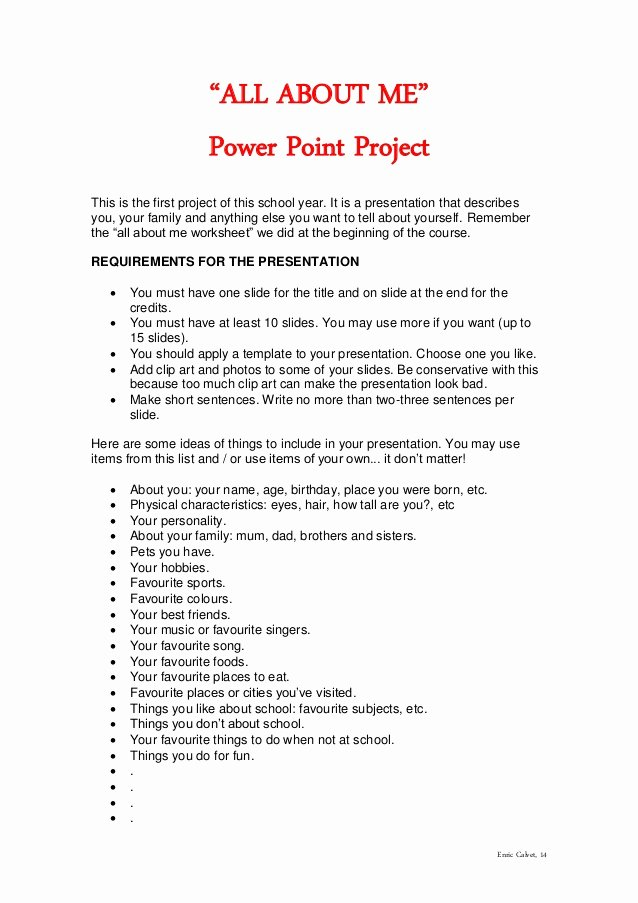 All About Me Powerpoint Template Best Of Powerpoint Project All About Me