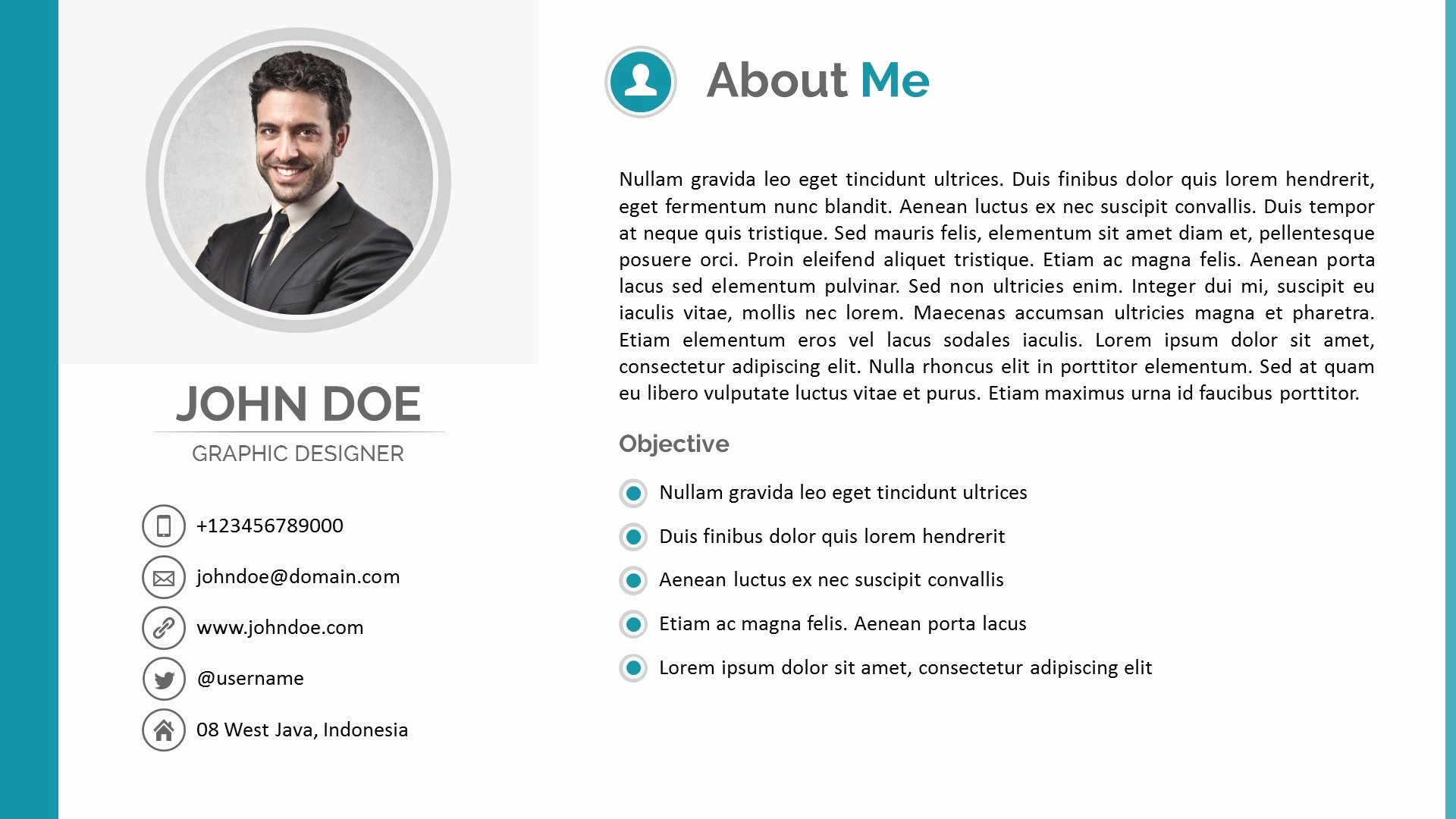 All About Me Powerpoint Template Best Of Resume Powerpoint Template by Pptx