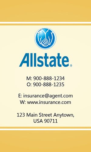 Allstate Insurance Card Template Elegant Insurance Agent Business Card