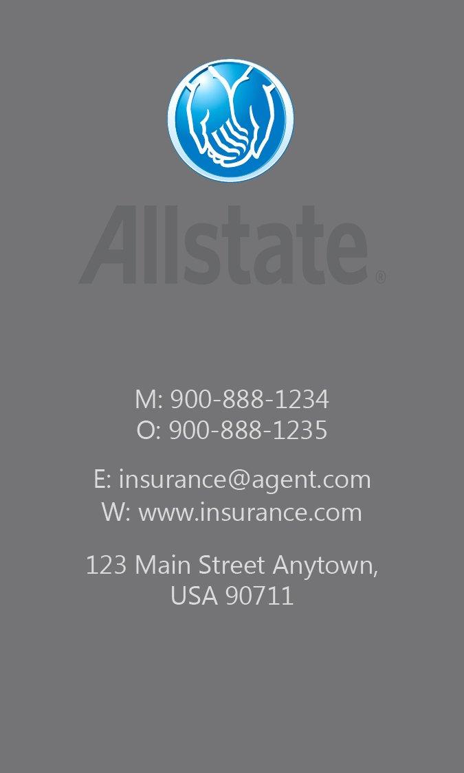 Allstate Insurance Card Template Fresh Black Allstate Business Card Design