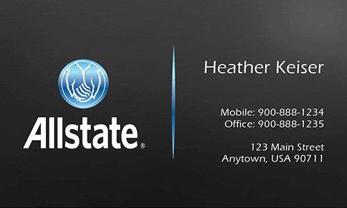 Allstate Insurance Card Template Inspirational Insurance Agent Business Card