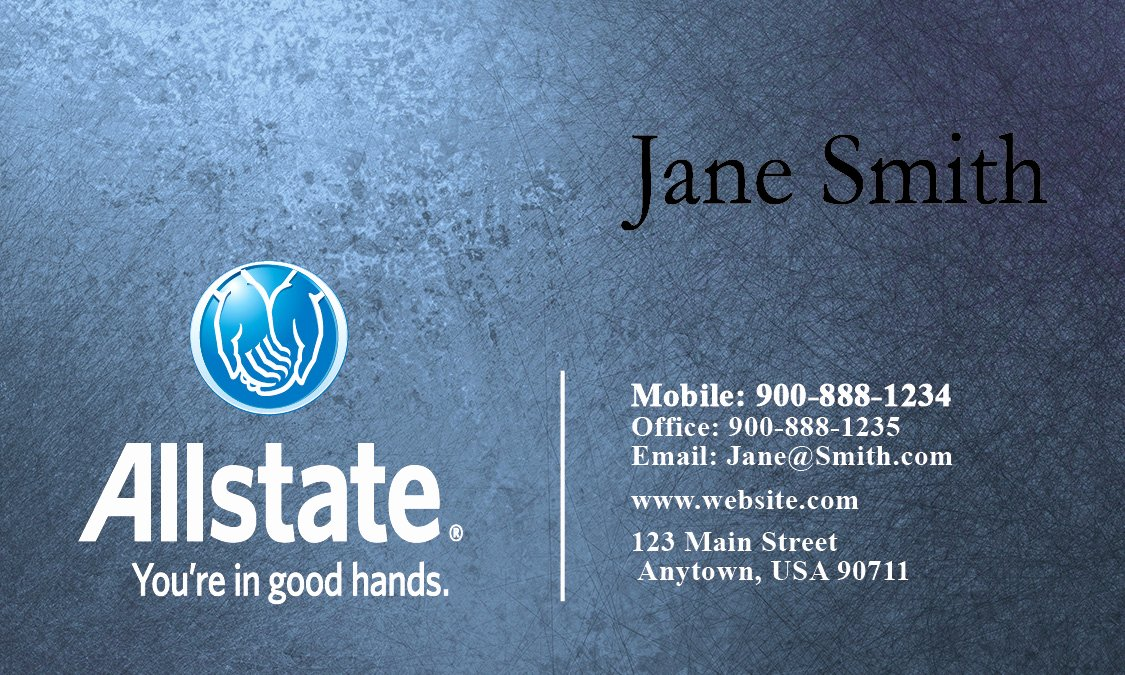 Allstate Insurance Card Template Unique Insurance Agent Business Card