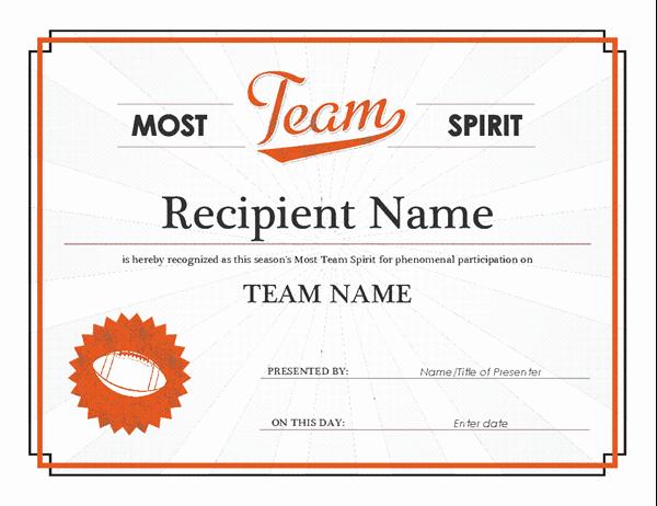 Altar Server Certificate Template Best Of Team Spirit Award Certificate