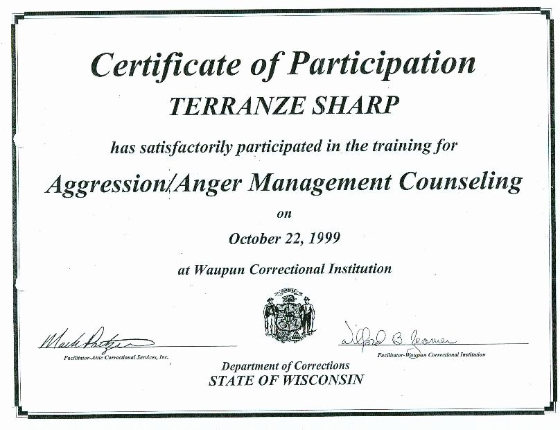 Anger Management Certificate Of Completion Template Lovely Second Chance for Juvenile Fenders April 2010