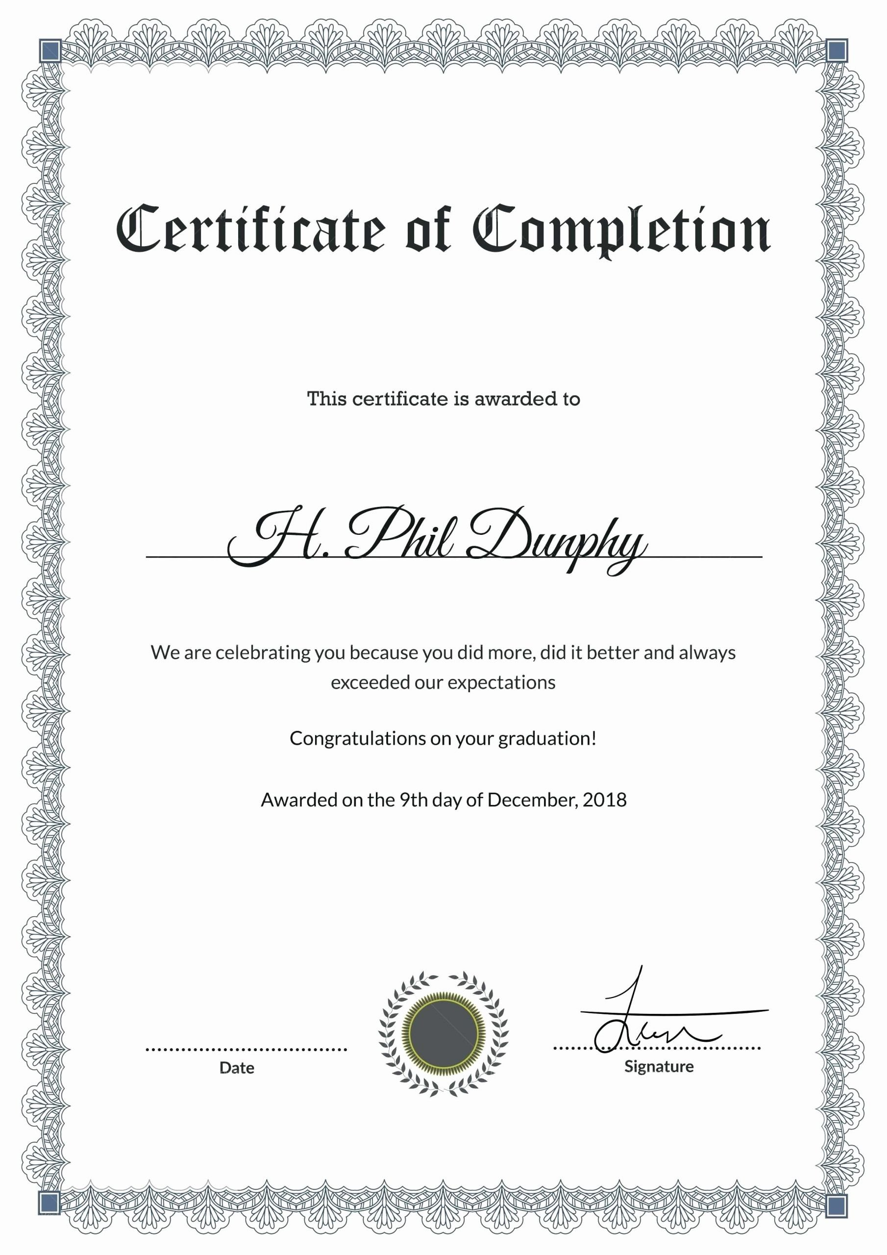 Anger Management Certificate Of Completion Template Luxury Anger Management Certificate Pletion Plete Anger
