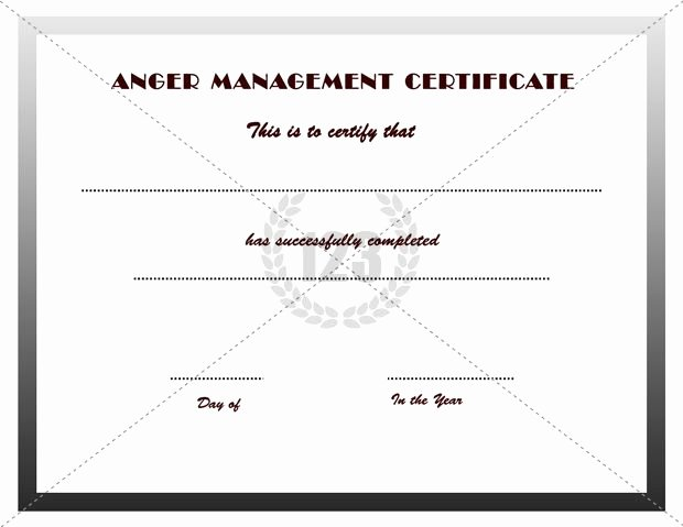Anger Management Certificate Template Luxury Good Anger Management Certificates Download