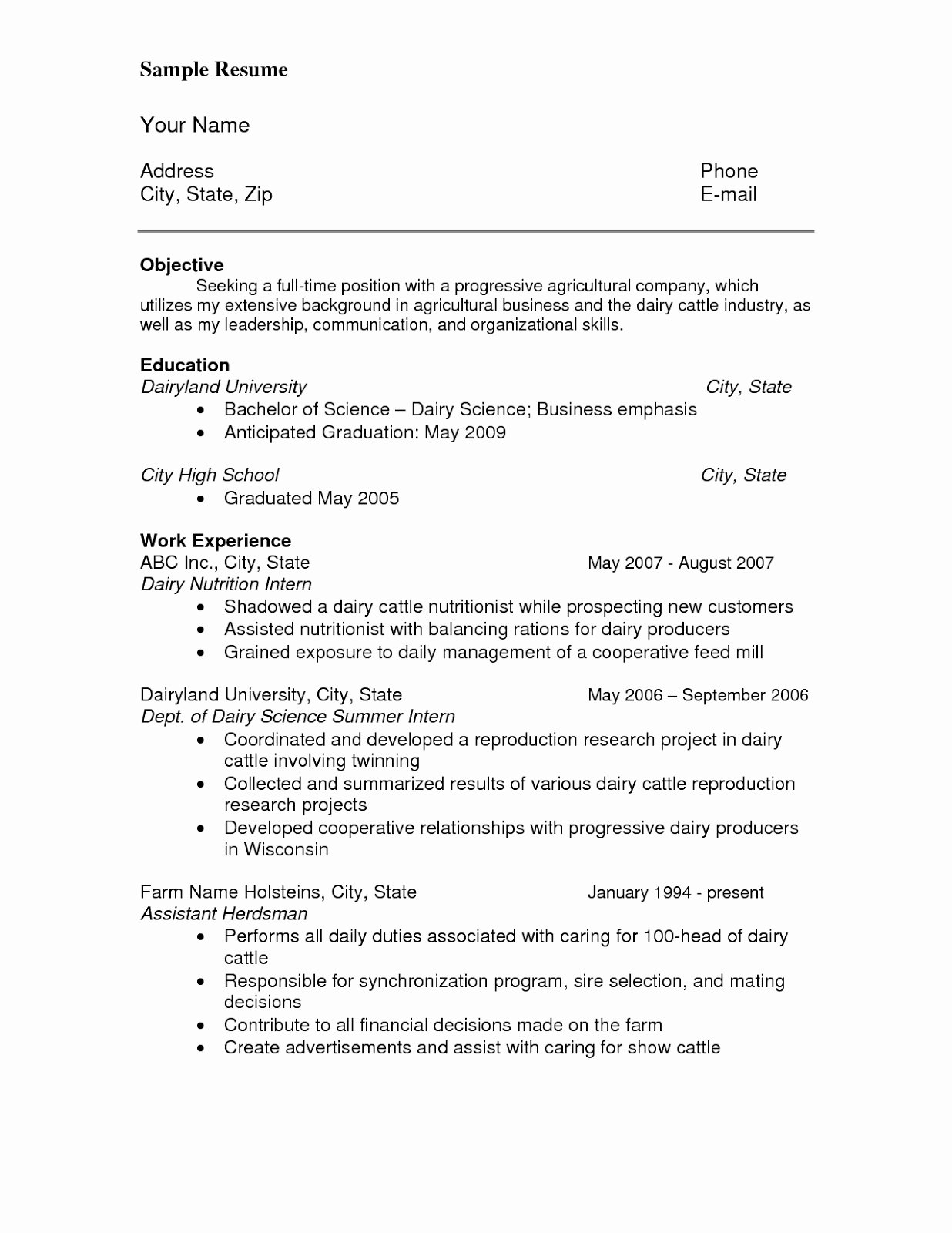 Anticipated Graduation Date On Resume Unique References for Resume Sample