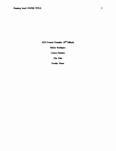 Apa format Personal Statement Fresh Apa Research Paper Title Page Template