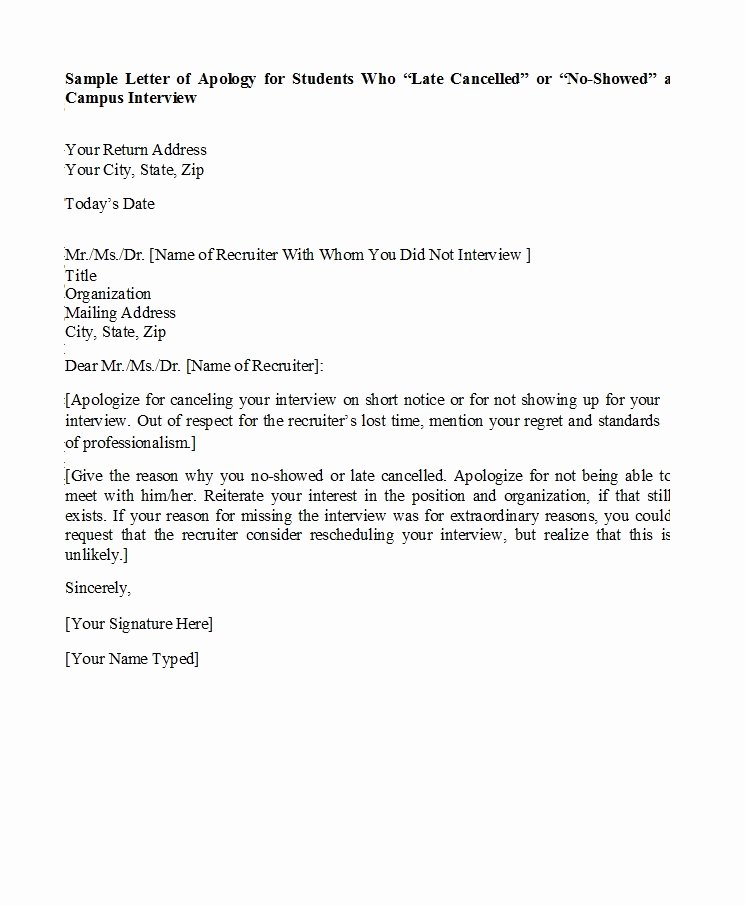 Apology Letter for Not attending An event Best Of 48 Useful Apology Letter Templates & sorry Letter Samples