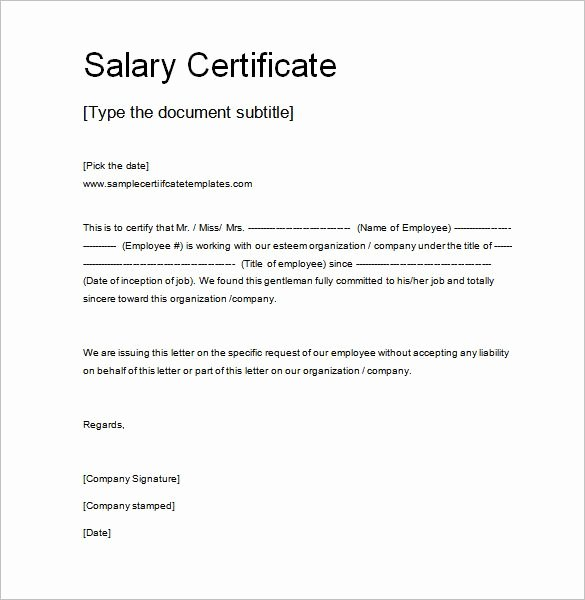 Application and Certificate for Payment Template Inspirational 10 Salary Certificate Templates Free Word Pdf Psd