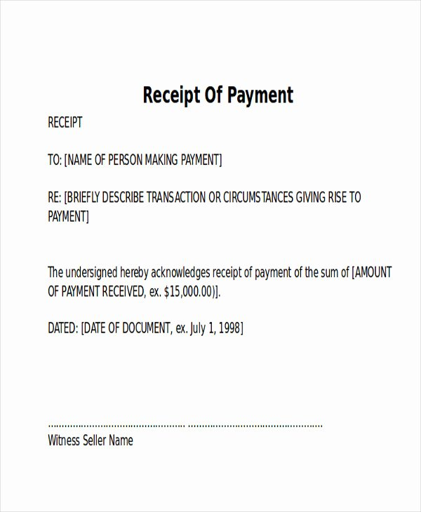 Application and Certificate for Payment Template New 10 Receipt Of Payment Letters Pdf Doc Apple Pages