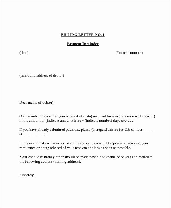 Application and Certificate for Payment Template Unique Overdue Payment Reminder Letter Sample