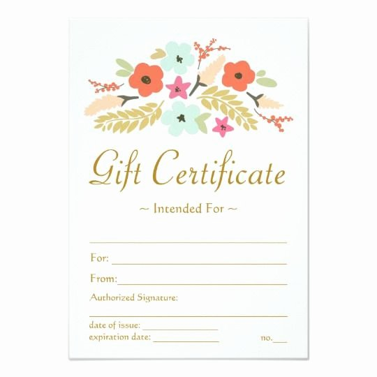 Arbonne Gift Certificate Template Awesome Flower Bouquet Gift Certificate Shop Ideas
