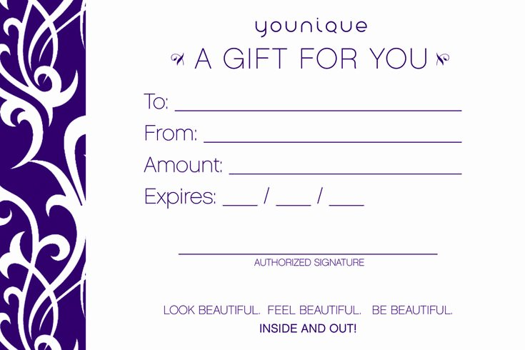 Arbonne Gift Certificate Template New Gift Certificates In Any Amount