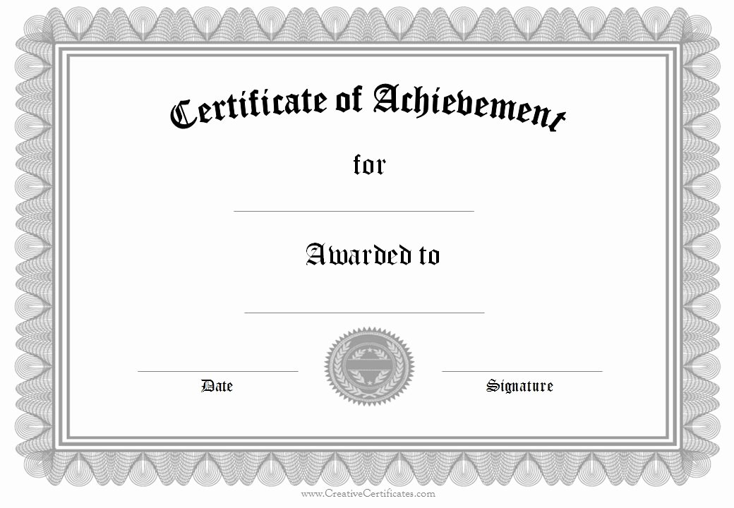 Army Award Certificate Template Elegant 28 Of Army Certificate Achievement Template Word