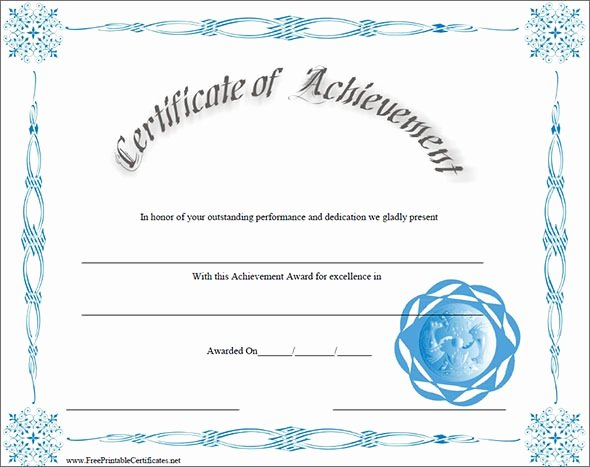 Army Certificate Of Achievement Template Best Of 40 Best Certificate Of Achievement Templates In