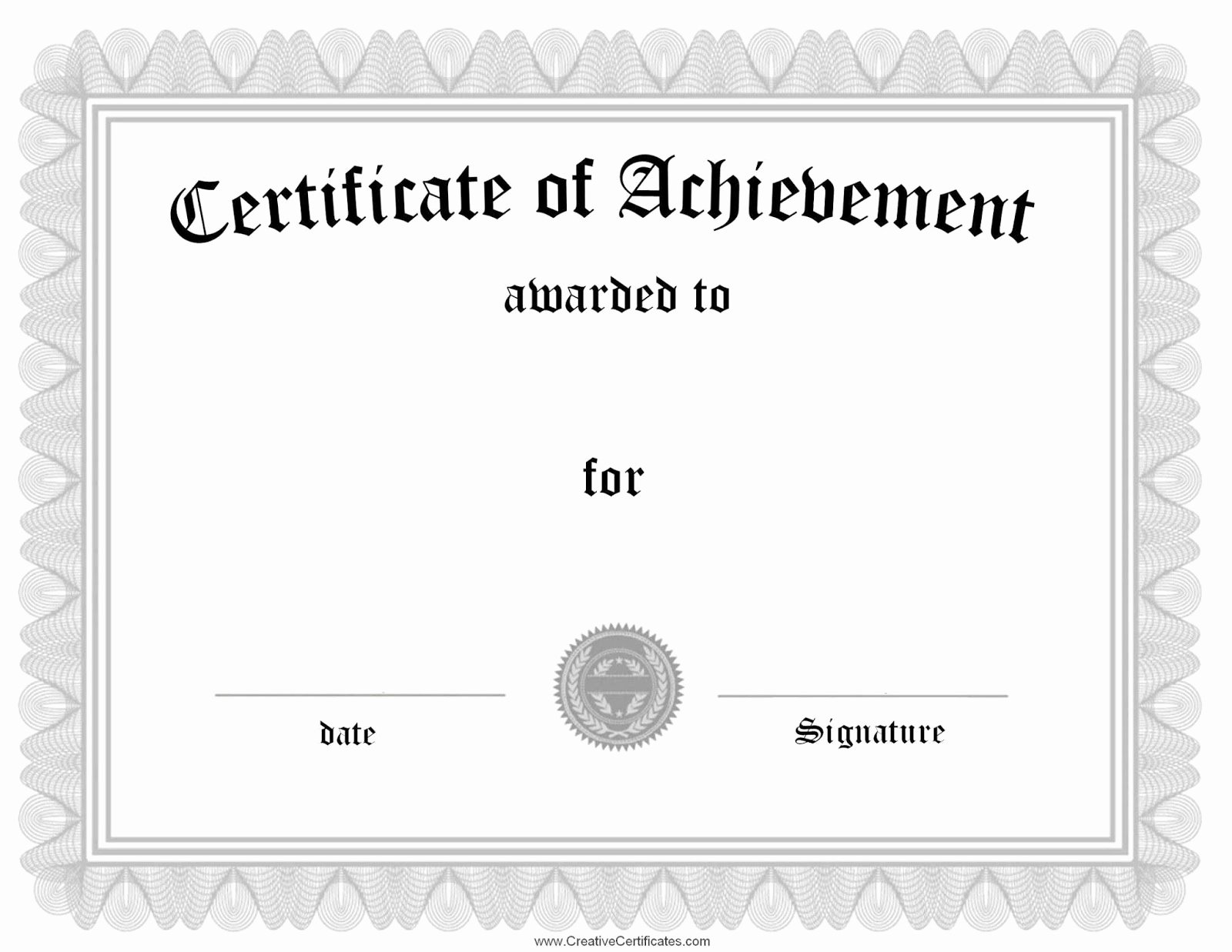 Army Certificate Of Achievement Template Inspirational Certificate Templates Sample Blank Certificates