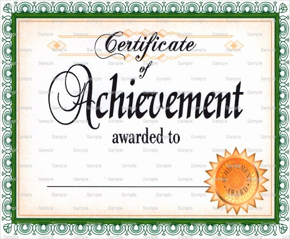 Army Certificate Of Achievement Template Luxury 40 Best Certificate Of Achievement Templates In