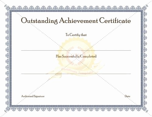 Army Certificate Of Achievement Template Unique Outstanding Achievement Certificate Template is Given to