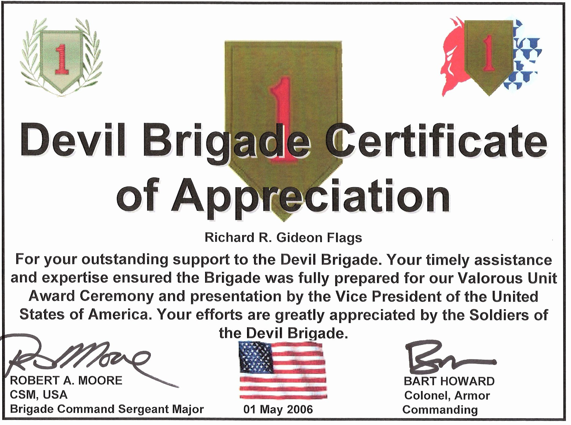 Army Certificate Of Appreciation Template Ppt Beautiful Military Guidon Campaign Battle and Custom Streamers