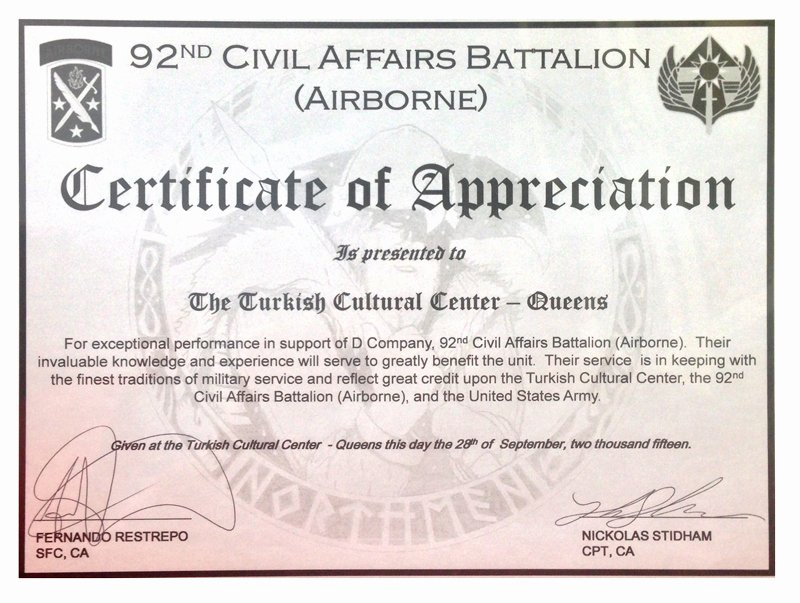 Army Certificate Of Appreciation Template Ppt Lovely Certificate Appreciation Content