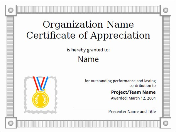 Army Certificate Of Appreciation Template Ppt Unique Free 32 Certificate Of Appreciation Templates In Samples