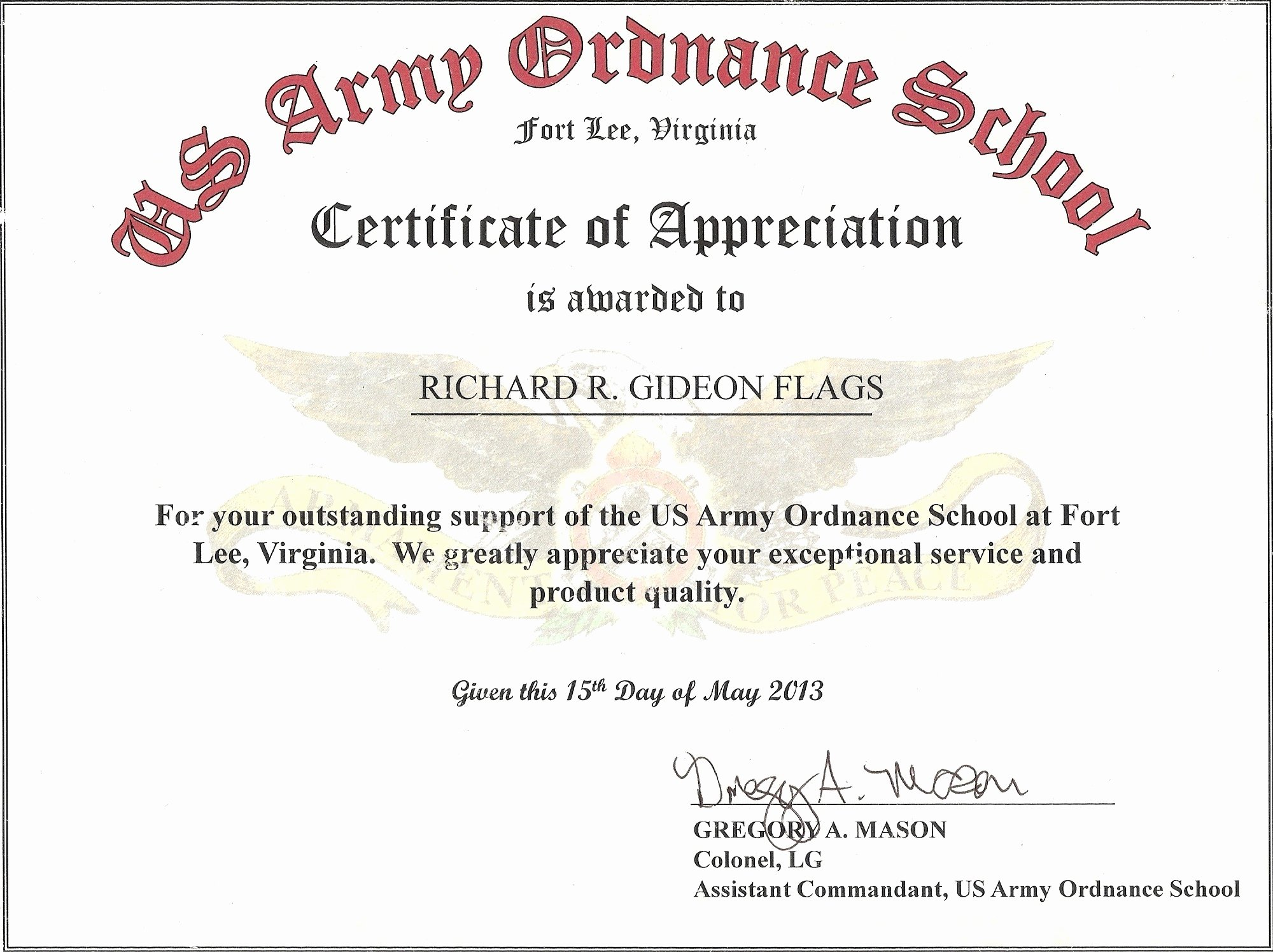 Army Certificate Of Appreciation Template Ppt Unique Military Certificate Appreciation Examples