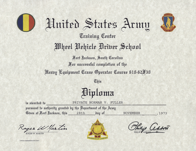 Army Certificate Of Training Template Elegant Army Wheel Vehicle Driver Certificate