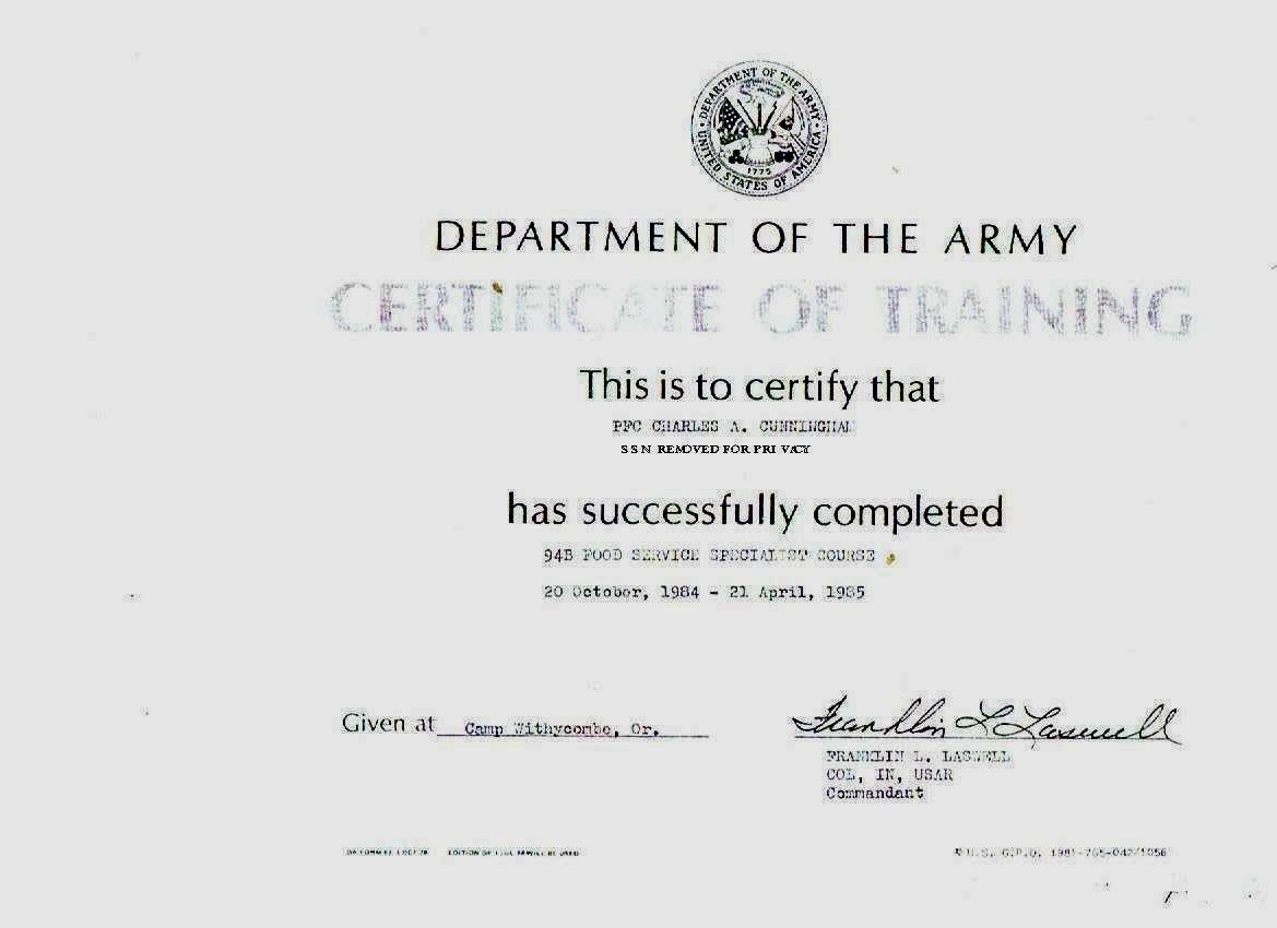 Army Certificate Of Training Template New Uychapelactivitiesspecialistchapla Rocketpreacher