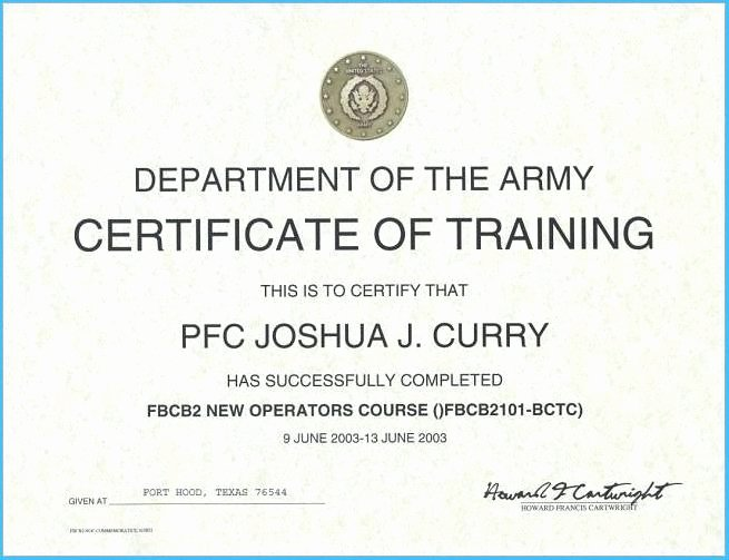 Army Drivers Training Certificate Template Fresh Army Drivers Training Certificate Template 8727