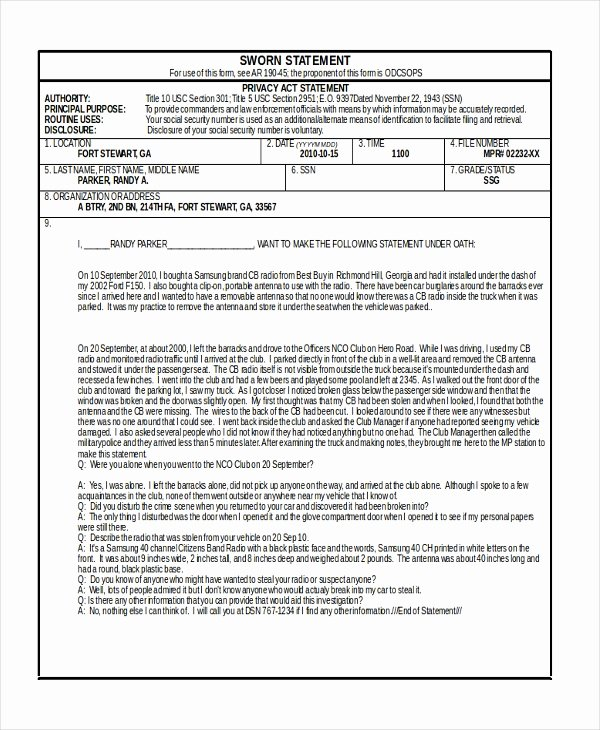 Army Initial Counseling Examples Lovely Free 7 Sample Army Counseling forms In Pdf