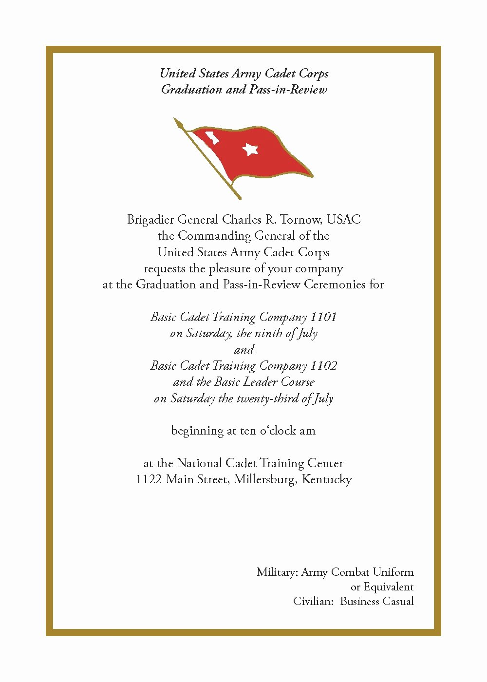 Army Officer Promotion Certificate Template Beautiful U S Army Cadet Corps July 2011