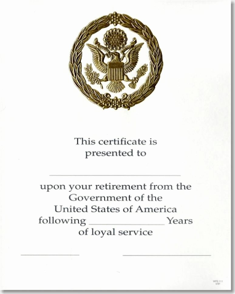 Army Promotion Certificate Template Elegant Opm Federal Career Service Award Certificate Wps 111