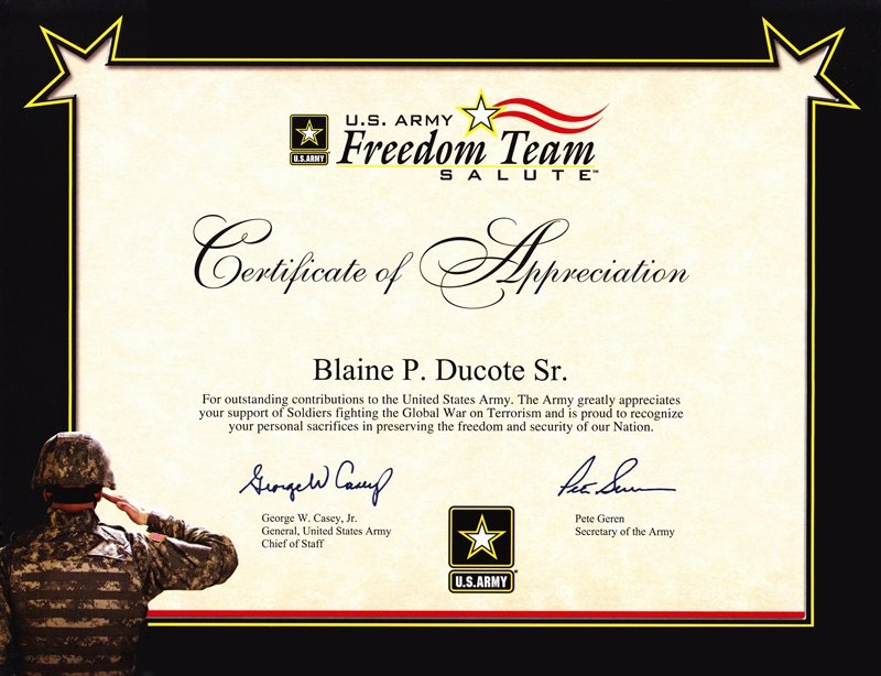 Army Promotion Certificate Template Luxury 6 Army Appreciation Certificate Templates Pdf Docx