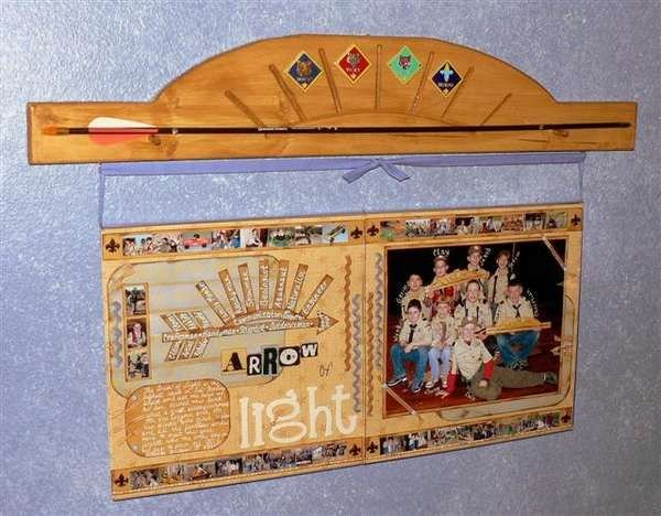 Arrow Of Light Award Plaque Kit Awesome if I Ever Around to Scrapping Jacob S Cub Scout Years
