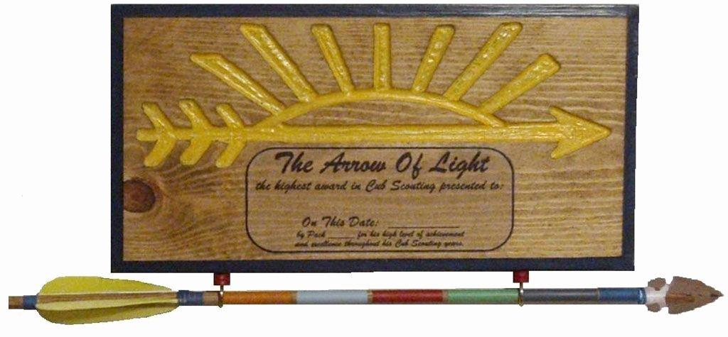 Arrow Of Light Award Plaque Kit Beautiful Arrow Of Light Arrow Of Light Pinterest