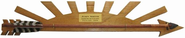 Arrow Of Light Award Plaque Kit Elegant Arrow Of Light Plaque with Arrow and Striping Kits