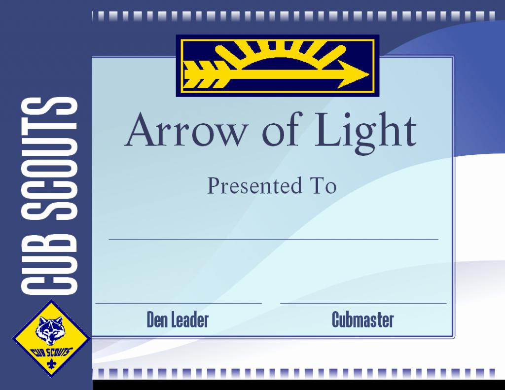 Arrow Of Light Award Template Elegant Cub Scout Free Png Hd Transparent Cub Scout Hd Png
