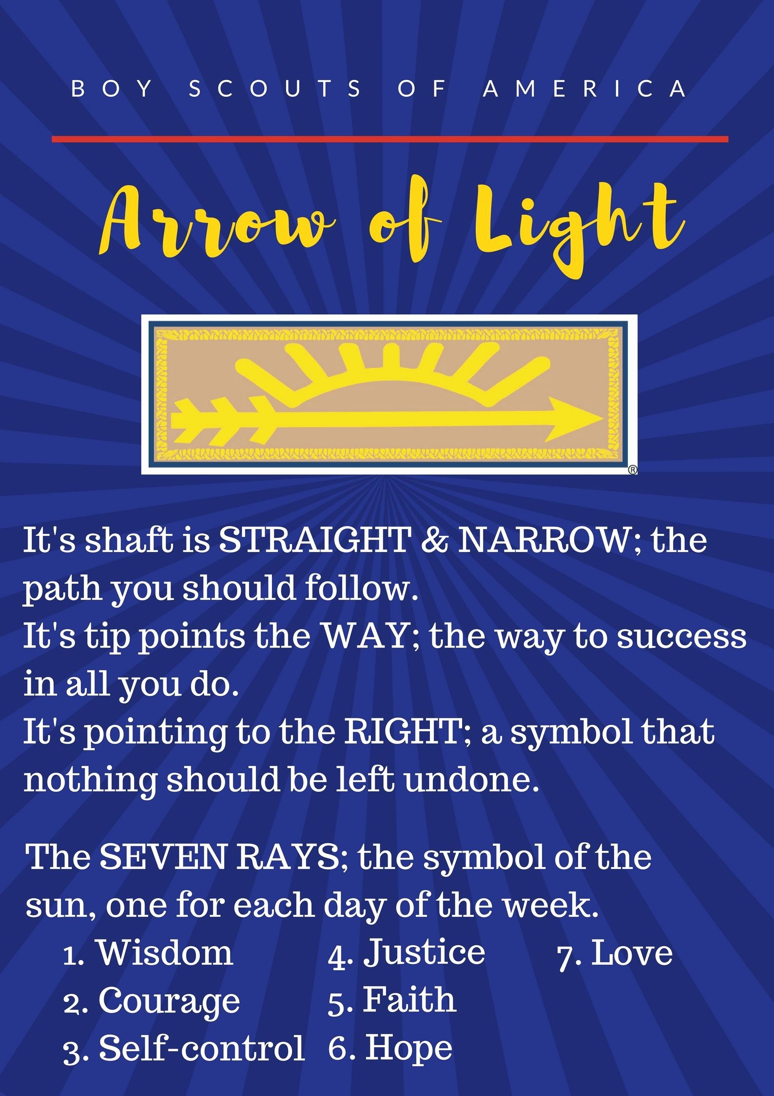 Arrow Of Light Award Template Luxury I Made This Printable for Our Arrow Of Light Ceremony