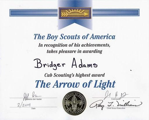 Arrow Of Light Award Template New Pin by Lara Hook On Cub Scouts