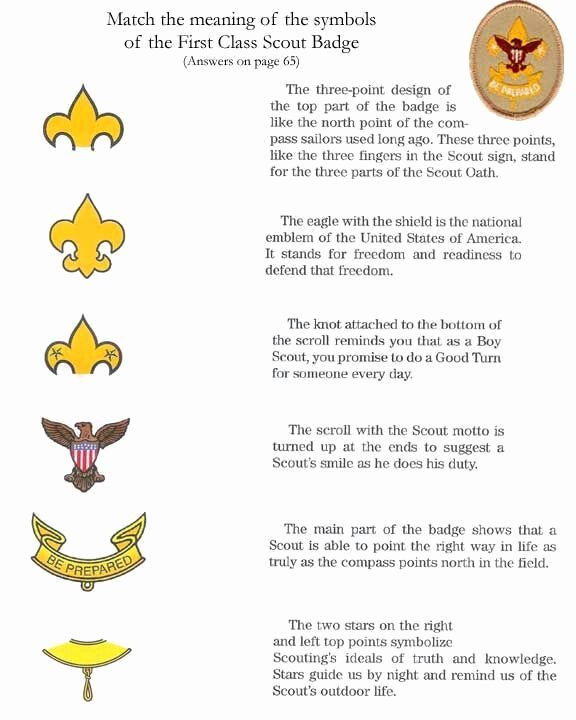 Arrow Of Light Certificate Pdf Fresh First Class Scout Badge Meanings Scouting