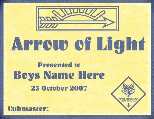Arrow Of Light Plaque Template Fresh 1000 Images About Arrow Of Light Ceremonies