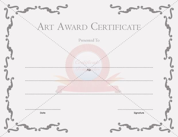 Art Award Certificate Template Free Awesome Certificate Templates Free Printable Certificate