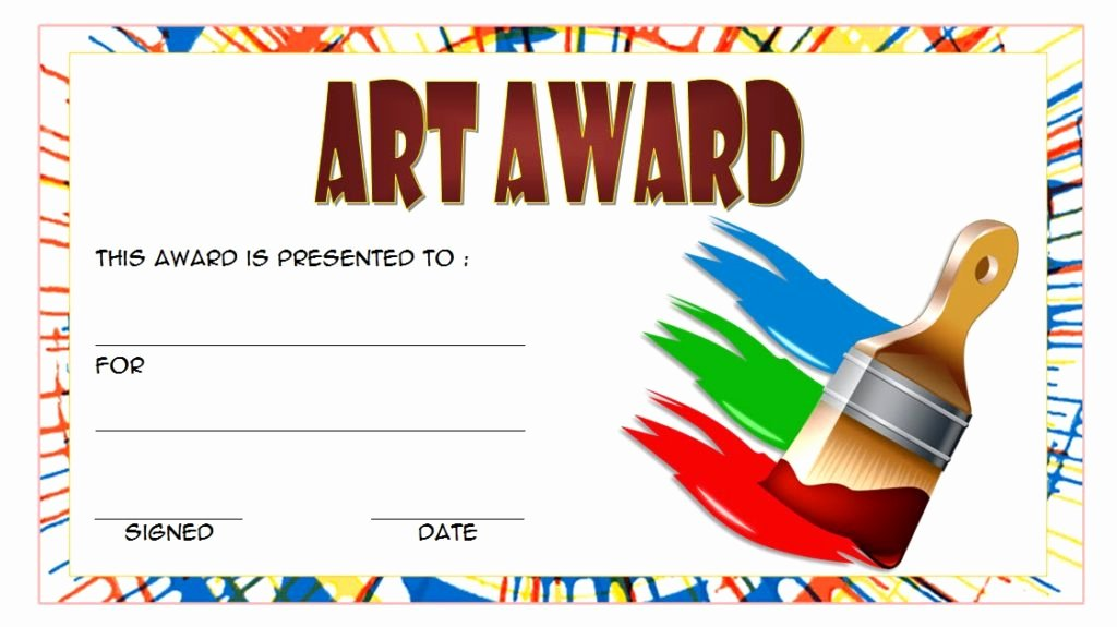 Art Award Certificate Template Free Fresh Free Art Award Certificate Templates Editable [10 Elegant
