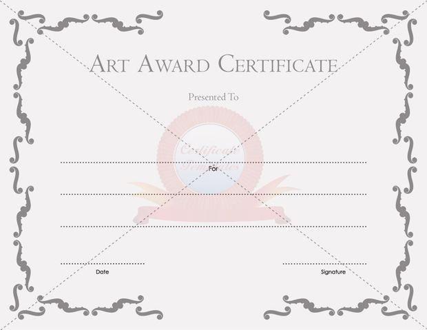 Art Award Certificate Template Free New Certificate Templates Free Printable Certificate