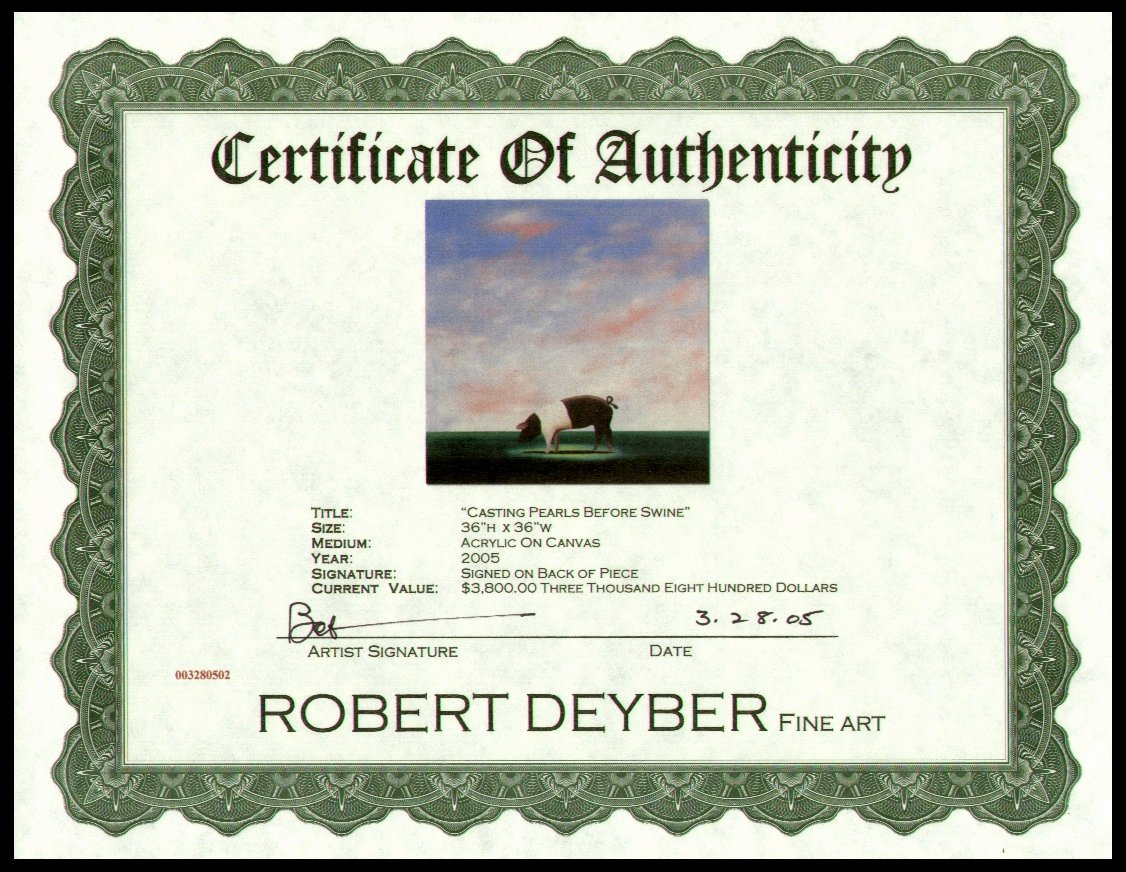 Art Certificate Of Authenticity Template Awesome Modern Certificate Border