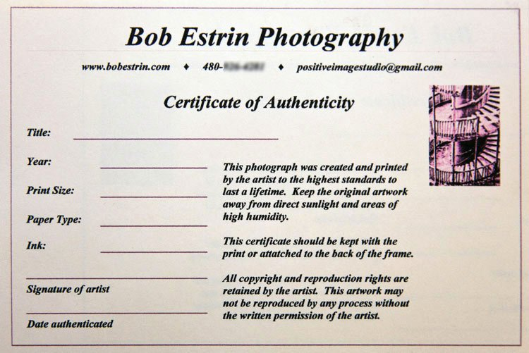 Art Certificate Of Authenticity Template Beautiful Certificate Authenticity Graphy – Planner Template