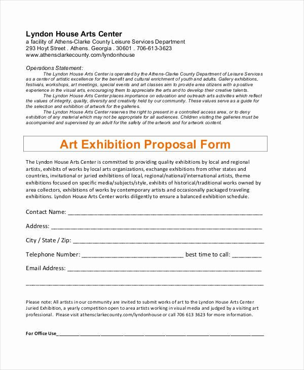 Art Exhibition Proposal Sample Best Of 35 Proposal Samples & Templates Word Pdf Pages