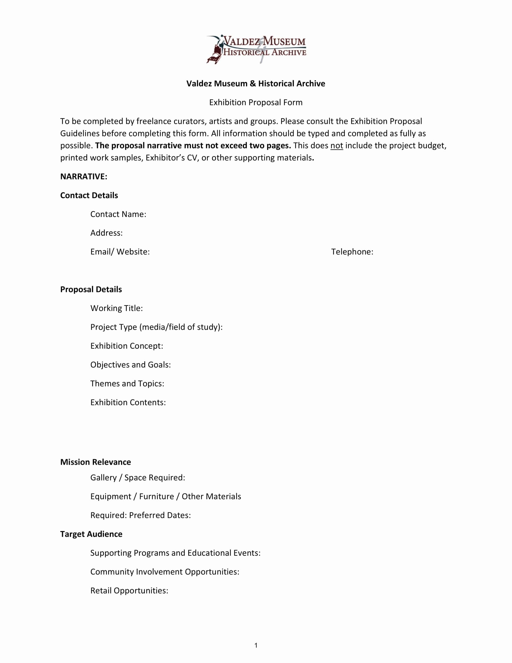 Art Exhibition Proposal Sample New 11 Exhibition Proposal Examples Doc Pdf